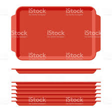 plateaux cuisine plateau en plastique alimentaire blanc serti de poignées