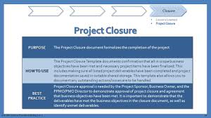 project closure report template ppt department of information resources presents ppt