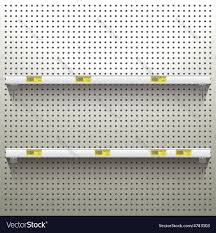 Peg Board Shelves by Pegboard Vector Images 15