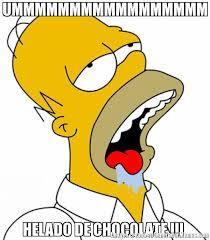 Memes De Chocolate - ummmmmmmmmmmmmmmmm helado de chocolate meme de homero