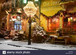 Outdoor Christmas Decoration by Outdoor Christmas Decoration Old Town Warsaw City Poland Stock