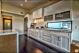 split level kitchen traditional with white shaker cabinets