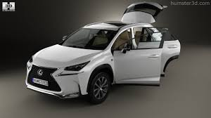 lexus nx hybrid interior 360 view of lexus nx f sport with hq interior 2014 3d model