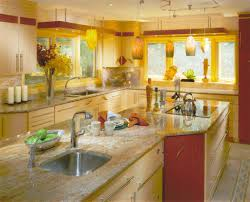 yellow bright colored asian kitchen design jpg