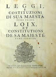 libreria giuridica torino le leggi e costituzioni di s m vittorio amedeo savoia