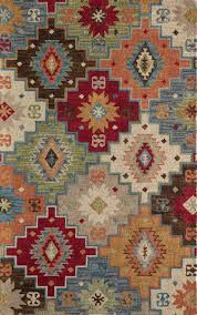 southwest area rugs loon peak sunnyvale hand tufted area rug u0026 reviews wayfair