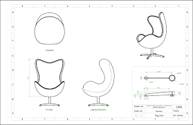 lounge chair top view drawing