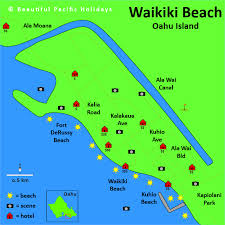 map of waikiki map of waikiki in the hawaiian islands