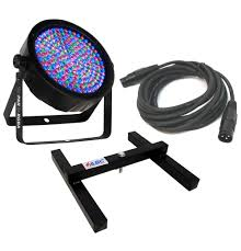 chauvet dj lighting slimpar 64 rgba slim par can 7ch dmx led color light with dmx cable uplighting floor stand