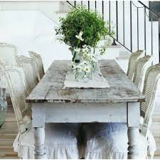 chairs to go with farmhouse table paint brown rattan chairs white distress and slipcover to go with