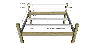 Free Loft Bed Plans Full by Free Diy Furniture Plans How To Build A Queen Sized Low Loft