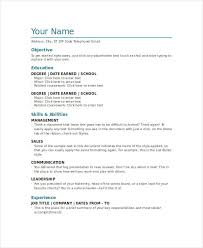 Resume Templates Free Word Document Resume Templates Word Doc 28 Images Cv Template Word Document