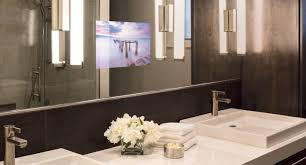 tv in mirror bathroom home design ideas and pictures