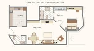 Bedroom Layout Tool by Sample Ruby Living Courts 1 Bedroom Apartment Layout Playuna