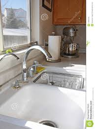 modern kitchen windows modern kitchen window and sink stock image image 12032759