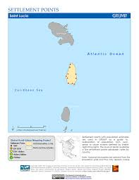 St Lucia Map Map Gallery Sedac