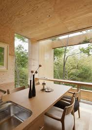 Japanese Home Interior Design Various Wood Finishes Populate Uniquely Natural Japanese Home