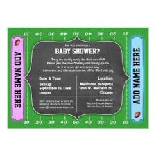 football themed baby shower football theme baby shower invitations announcements zazzle