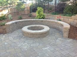 Backyard Fire Pit Lowes by Exterior Design Enchanting Cambridge Pavers With Sweet Flowers