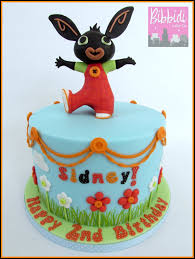 bing cbeebies birthday childrens cake by bibbidi cake co
