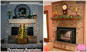 paint red brick fireplace grey colors pictures painted gray