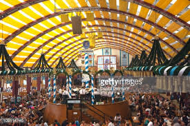 revelers inside tents at oktoberfest celebration munich