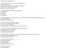 stuart little chapters 5 6 3rd 6th grade lesson plan lesson