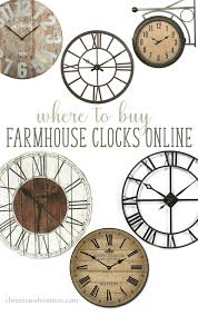 where to buy farmhouse wall clocks farmhouse wall clocks wall