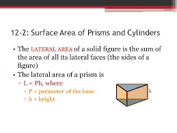 12 2 surface area of prisms and cylinders ppt video online download