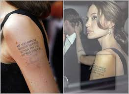 angelina jolie tattoos shoulder andrew garfield