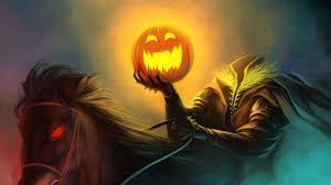 scarry halloween background pumpkin head in the scary halloween night