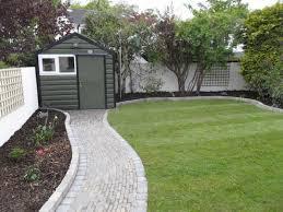 garden stunning garden design with brick walkway and small house