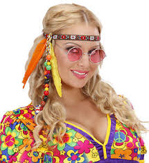 hippy headband hippie headband with feathers fancy dress 60 s 70 s fancy
