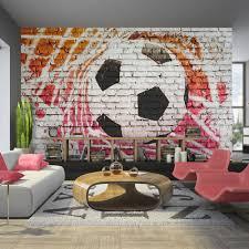 football soccer player wall mural photo wallpaper boys kids wallpaper 350x245 cm non woven murals wall mural photo