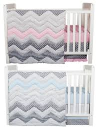 Baby Crib Sets Matching Pink And Blue Chevron Nursery Bedding Sets For Twins
