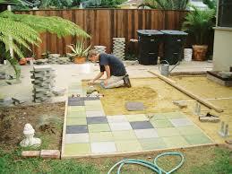 Backyard Ideas On A Budget Patios by Cheap Patio Idea Sunset