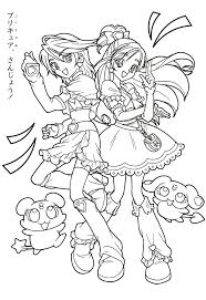 pretty cure coloring page 工作 pinterest pretty cure
