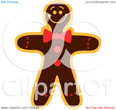 royalty free rf clipart illustration of a christmas gingerbread