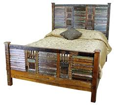 Rustic Bedroom Furniture Sets by Barnwood Bedroom Set Country Furniture White Beadboard Wall And