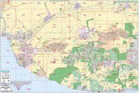 ventura county map ventura county wall map bros maps