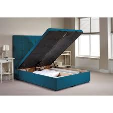Divan Ottoman Beds by Appian Ottoman Divan Bed Frame Teal Chenille Fabric Super King 6ft