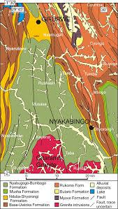 Map Of Rwanda Genesis Of The Vein Type Tungsten Mineralization At Nyakabingo