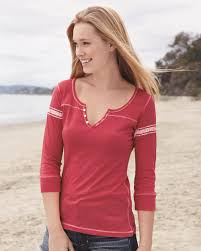 mv sport w1454 s hailey henley three quarter sleeve shirt