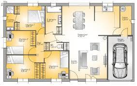 plan de maison 4 chambres gratuit plan de maison basse 4 pièces gratuit