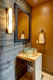 Orange Accent Wall by Cheerful Spunk Enliven Your Powder Room With A Splash Of Orange