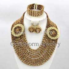 gold jewelry sets for weddings aliexpress buy unique coffee gold bridal