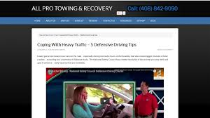 coping with heavy traffic 5 defensive driving tips all pro