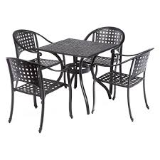 Milano Patio Furniture by Outdoor Alfresco Home Milano Cafe Cast Aluminum Patio Dining Set