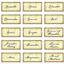 miniature dollhouse antique spice and herb labels digital collage