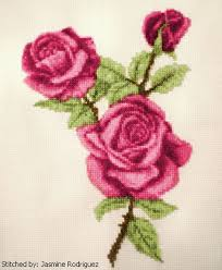 roses cross stitch pattern roses